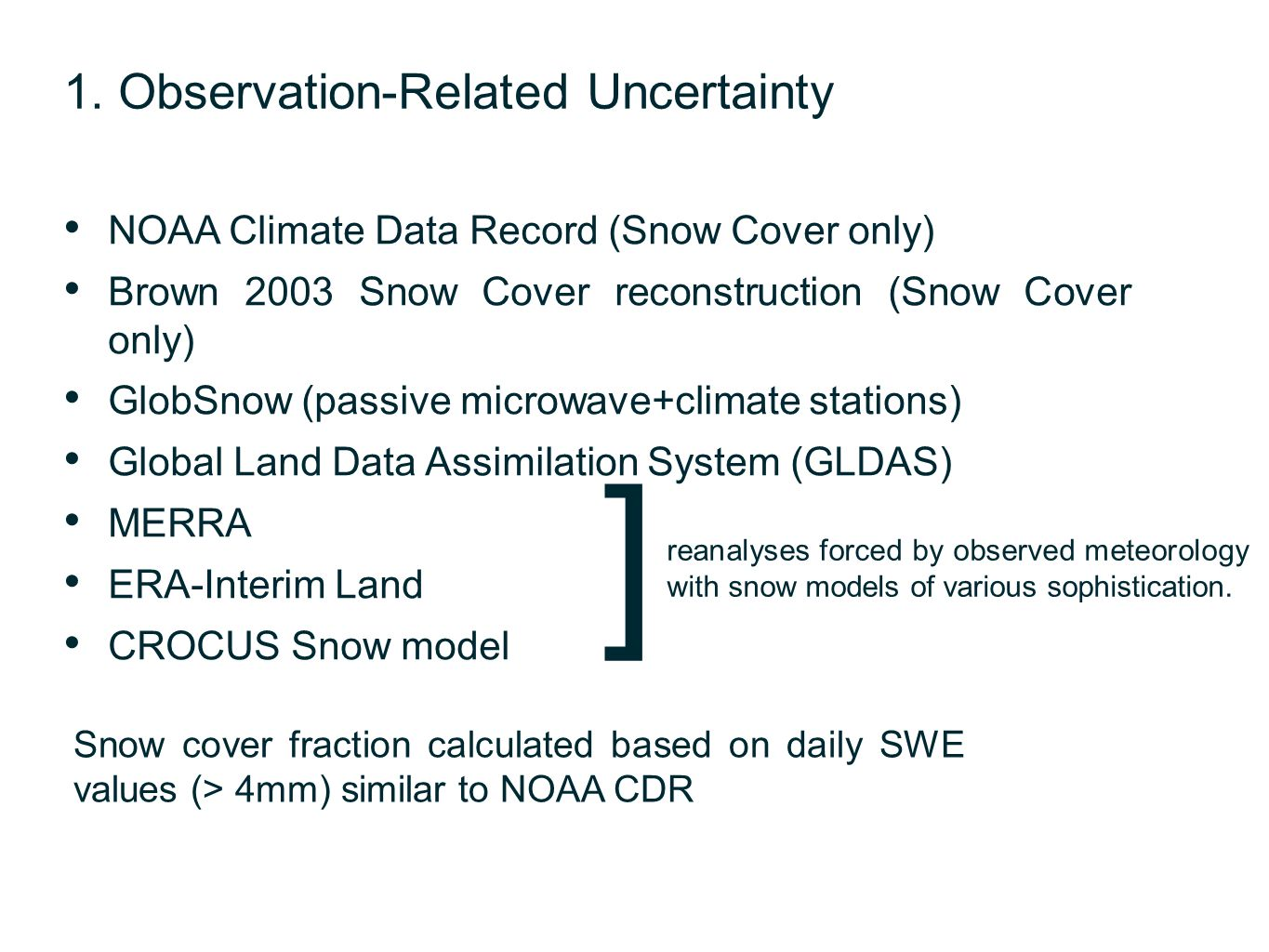 ] 1. Observation-Related Uncertainty